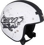 Z1R Jimmy CHICO Open Face Motorcycle Helmet (White/Black)