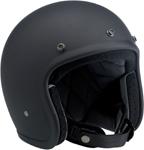 BILTWELL BONANZA Retro Open-Face Helmet (Flat Black)