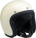 BILTWELL BONANZA Retro Open-Face Helmet (Gloss Vintage White)