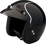 Z1R Jimmy INTAKE Open Face Motorcycle Helmet (Black/Silver)