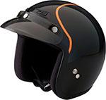 Z1R Jimmy INTAKE Open Face Motorcycle Helmet (Black/Orange)