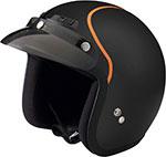 Z1R Jimmy INTAKE Open Face Motorcycle Helmet (Flat Black/Orange)