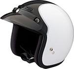 Z1R Jimmy INTAKE Open Face Motorcycle Helmet (White/Black)