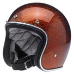 BILTWELL INC BONANZA Retro Open-Face Motorcycle Helmet (Rootbeer MegaFlake)