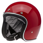 BILTWELL INC BONANZA Retro Open-Face Motorcycle Helmet (Gloss Blood Red)