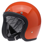 BILTWELL INC BONANZA Retro Open-Face Motorcycle Helmet (Gloss Hazard Orange)