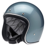 BILTWELL INC BONANZA Retro Open-Face Motorcycle Helmet (Gloss Blue Steel)