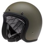 BILTWELL INC BONANZA Retro Open-Face Motorcycle Helmet (Flat Olive)