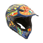 AGV AX-8 EVO Rossi 5 Continents Motocross Helmet (Multi-Color)