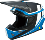Moose Racing MX Off-Road F.I. Session MIPS Helmet (Blue/Black/White)
