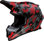 Z1R RISE Camouflage Offroad Helmet (Red)