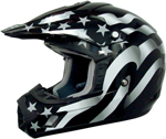 AFX FX17Y FLAGS Kids Motocross/Offroad/ATV Helmet (FREEDOM Stealth)