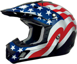 AFX FX17 FLAGS Motocross/Offroad/ATV Helmet (FREEDOM Black)