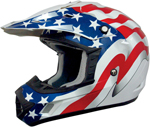 AFX FX17 FLAGS Motocross/Offroad/ATV Helmet (FREEDOM White)