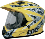 AFX FX39DS URBAN Camo Dual-Sport Motorcycle Helmet (Yellow)