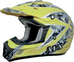 AFX FX17 URBAN Camo Motocross/Offroad/ATV Helmet (Hi-Vis Yellow)