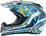 AFX FX19 VIBE Motocross/Offroad/ATV Helmet (Blue/Yellow)