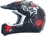 AFX FX17 DANGER Motocross/Offroad/ATV Helmet (Black/Red)