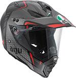 AGV AX-8 DUAL SPORT EVO Helmet (GT Black/Silver/Red)