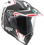 AGV AX-8 DUAL SPORT EVO Helmet (GT White/Gunmetal/Red)