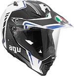 AGV AX-8 DUAL SPORT EVO Helmet (GT White/Gunmetal/Blue)