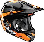 THOR MX 2016 VERGE Motocross/Snow Helmet (REBOUND Flo Orange/Black)