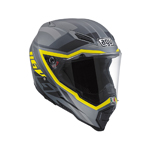 AGV AX-8 EVO Naked KARAKUM Full-Face Motorcycle Helmet (Matte Camo/Yellow)