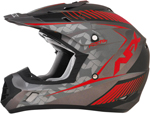 AFX FX17Y FACTOR Kids Motocross/Offroad/ATV Helmet (Frost Grey/Red)