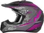 AFX FX17 FACTOR Motocross/Offroad/ATV Helmet (Frost Grey/Fuchsia)
