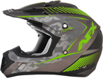 AFX FX17Y FACTOR Kids Motocross/Offroad/ATV Helmet (Frost Grey/Green)