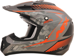 AFX FX17Y FACTOR Kids Motocross/Offroad/ATV Helmet (Frost Grey/Safety Orange)