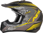 AFX FX17Y FACTOR Kids Motocross/Offroad/ATV Helmet (Frost Grey/Yellow)