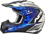 AFX FX17Y Kids Motocross/Offroad/ATV Helmet (Pearl White/Blue/Lt Blue)