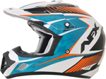 AFX FX17Y Kids Motocross/Offroad/ATV Helmet (Pearl White/Blue/Orange)