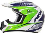 AFX FX17Y Kids Motocross/Offroad/ATV Helmet (Pearl White/Green/Blue)
