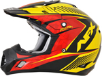 AFX FX17 FACTOR Motocross/Offroad/ATV Helmet (Black/Red/Yellow)