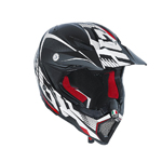 AGV AX-8 Evo CARBOTECH Carbon Fiber Offroad Motorcycle Helmet (White/Red)