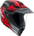 AGV AX-8 Dual Sport Evo KARAKUM Full-Face Motorcycle Helmet (Black/Red)