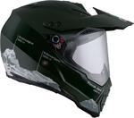 AGV AX-8 Dual Sport Evo Full-Face Motorcycle Helmet (Green/White)