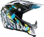 AGV AX-8 EVO Motocross/Offroad Motorcycle Helmet (White/Cyan)