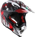 AGV AX-8 EVO Motocross/Offroad Motorcycle Helmet (White/Red)