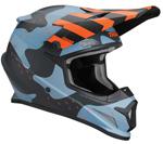 Thor MX Motocross Sector Helmet (MOSSER Matte Blue Camo)