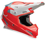 Thor MX Motocross Sector Helmet (SHEAR Gloss Red/Light Gray)