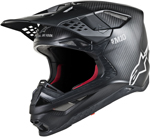 Alpinestars MX Motocross Supertech M10 Solid Helmet (Carbon Black)