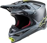 Alpinestars MX Motocross Supertech M10 Meta Helmet (Black/Gray/Yellow Fluo)
