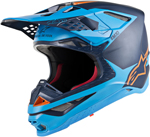 Alpinestars MX Motocross Supertech M10 Meta Helmet (Black/Aqua/Orange Fluo)