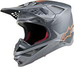 Alpinestars MX Motocross Supertech M10 Meta Helmet (Anthracite/Gray/Orange Fluo)