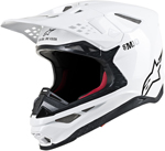 Alpinestars MX Motocross Supertech M10 Solid Helmet (Gloss White)