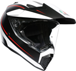 AGV AX9 PACIFIC ROAD Dual Sport Helmet (Matte Black/White/Red)