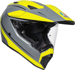 AGV AX9 PACIFIC ROAD Dual Sport Helmet (Matte Grey/Fluo Yellow/Black)